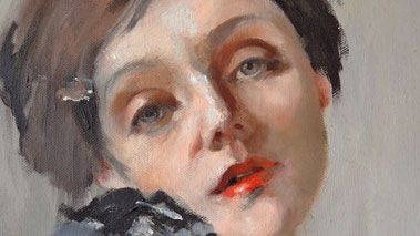 How to Paint a Self Portrait Using a Mirror - How to Build a Painting with Loose Strokes