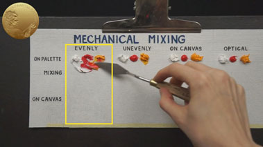 How to Mix Oil Colors - Mechanical Mixing in Direct Painting Method