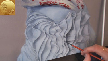 How to Paint a Girl Portrait - How to Paint Folds in Fabric in Oils