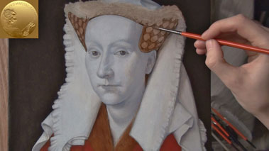 How to Paint Using the Flemish Method - How to Paint White Fabric with Folds