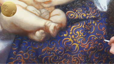 Madonna and Child - How to Paint Blue Patterned Drapery in Oils