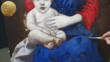 Madonna and Child - How to Paint Folds