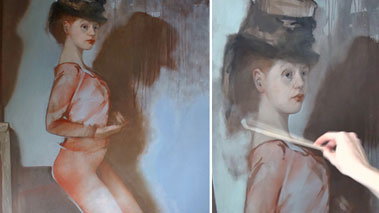 Figural Painitng in Oils - Underpainting with Brown Oil Paint