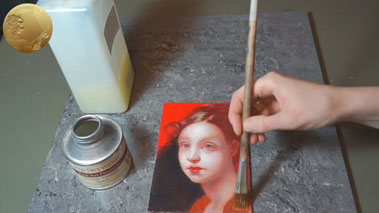 Varnishing an Oil Painting