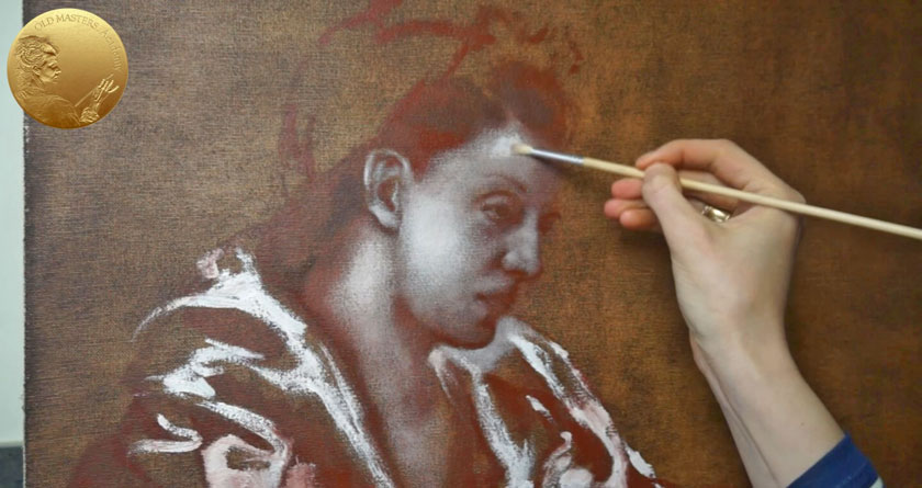 Allegory of Painting - Grisaille Painting Using Dry Brush Method