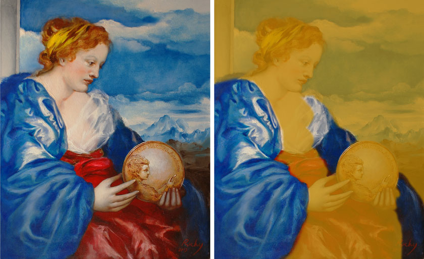 Allegory of Painting - How to Paint Blue Draperies
