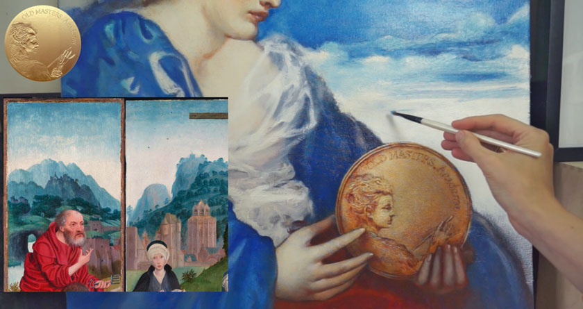 Allegory of Painting - How to Paint a Cloudy Sky and Mountains in Oil