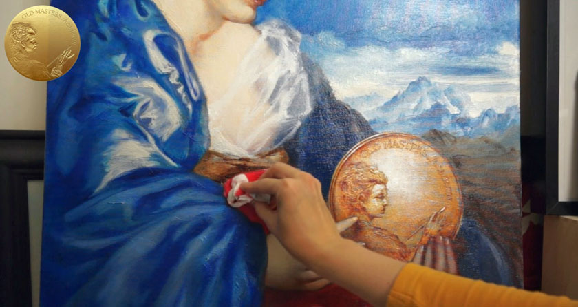 Allegory of Painting - Painting Red Draperies