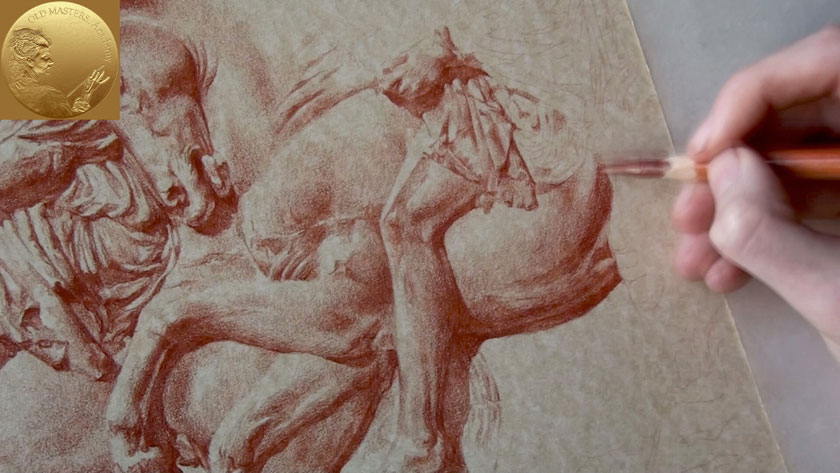 How to Draw in Sanguine on Toned Paper - Circular Shading ...
