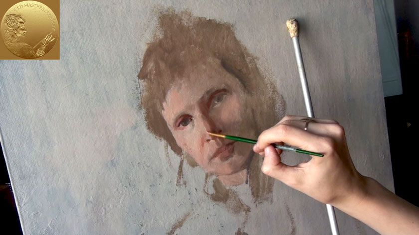 How to Paint a Woman Portrait from Scratch - Creating Flesh Tones for Oil Painting Portrait