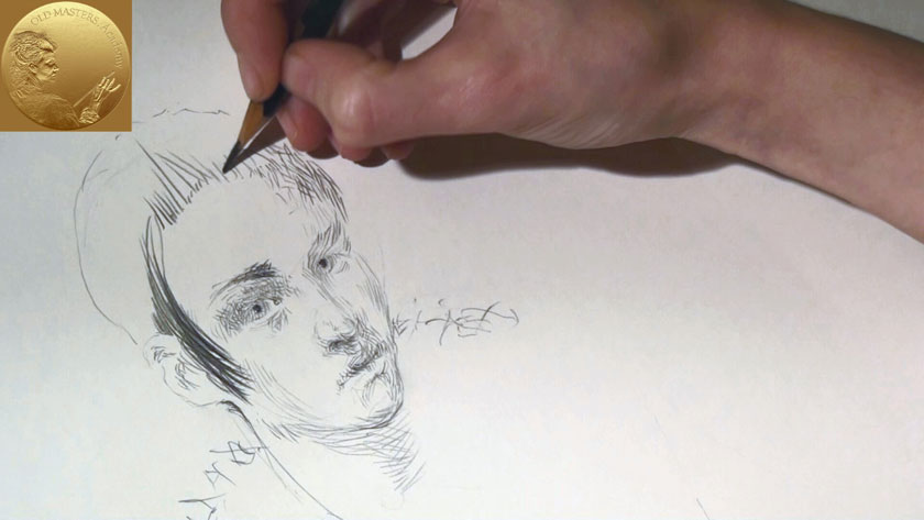 How to Draw a Human Face - Cross Hatching Drawing Techniques