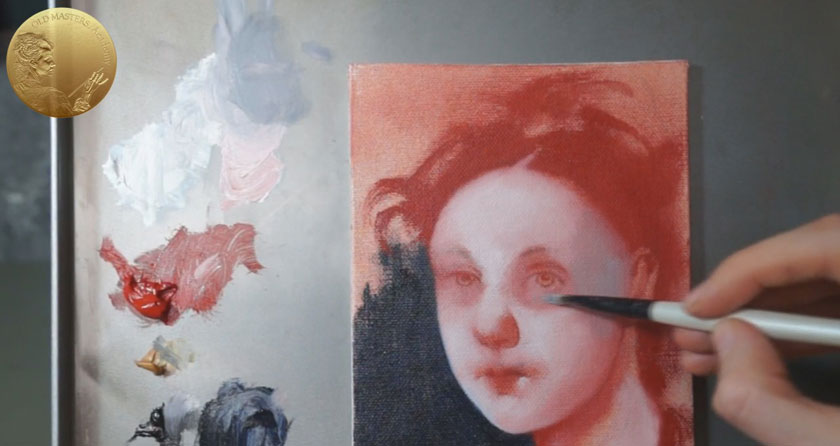 Direct Method in Oil Painting Underpainting