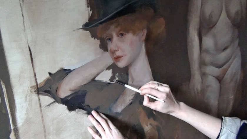 Figurative Painting with Gestural Brushwork - Final Brushstrokes in Figural Painting