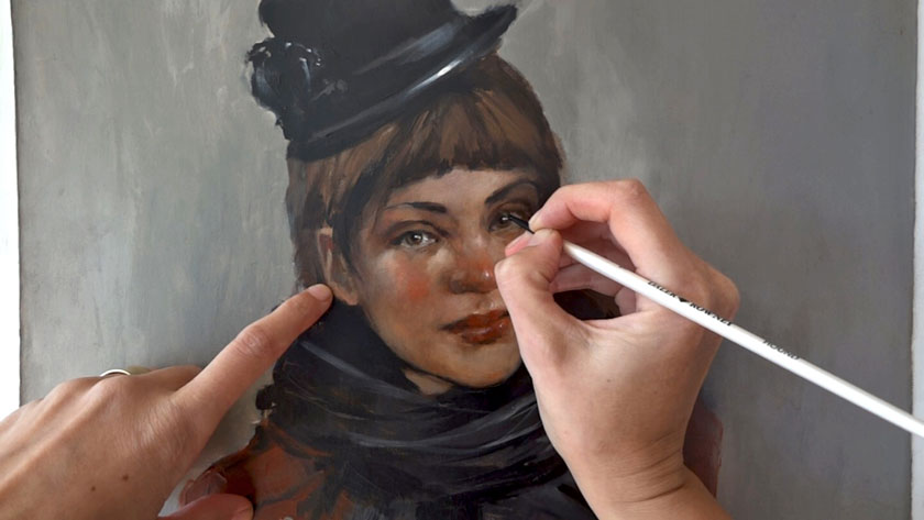 How to Paint a Woman Portrait - Final Touches to the Oil Portrait Painting