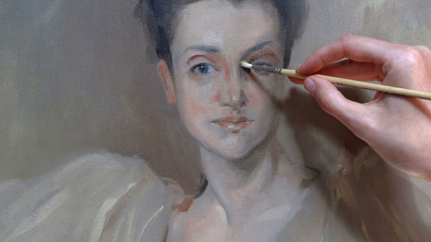 How to Paint a Portrait in the Direct Method - Finishing Portrait with Loose Brush Strokes