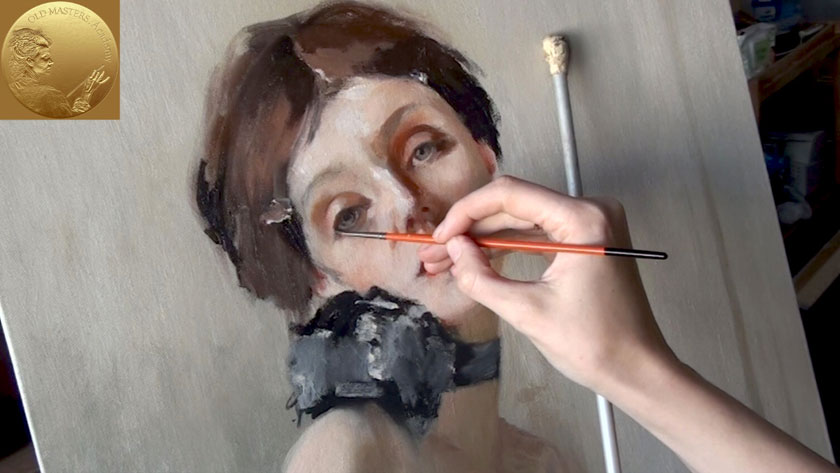 How to Paint a Self Portrait Using a Mirror - Finishing a Portrait Painting