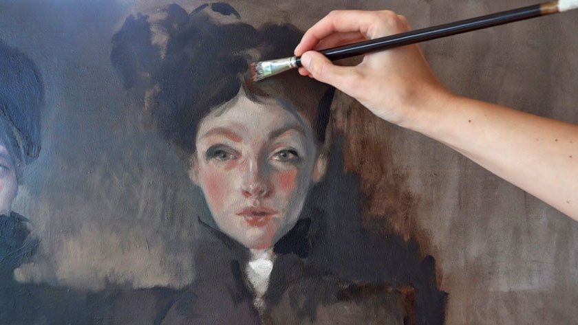 How to Paint Figures in Oil - Finishing a Portrait in Oils Using a Direct Painting Method