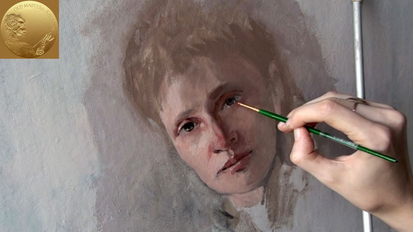 How to Paint a Woman Portrait from Scratch - Finishing a Portrait with Impressionistic Brush Strokes