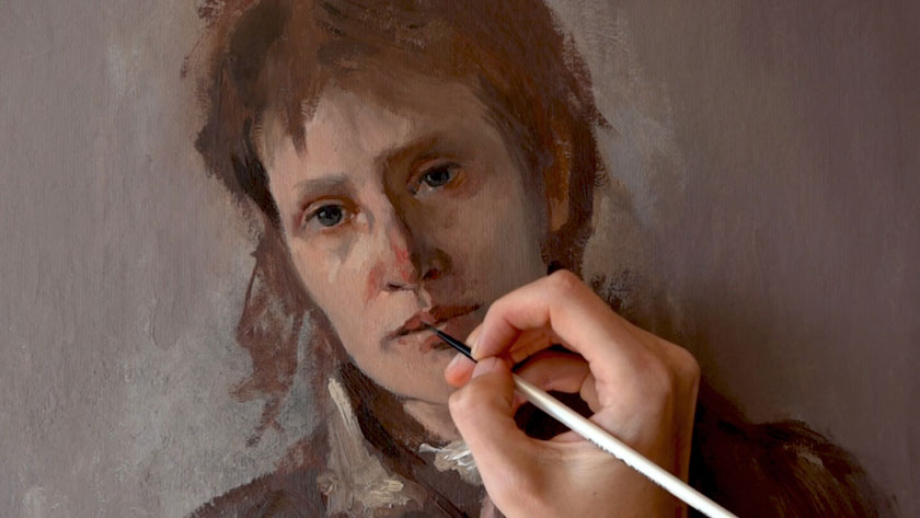 How to Paint a Woman Portrait from Scratch - Finishing an Oil Painting