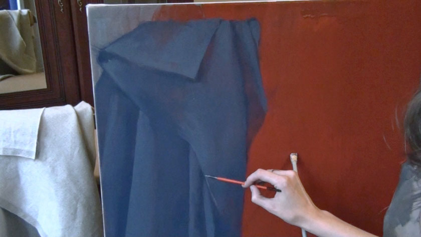 Human Figure Painting Techniques - Gestural Brushwork in Painting Draperies