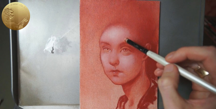 Grisaille or Dead Color Underpainting