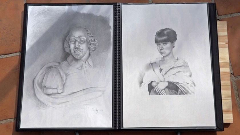 Portrait Drawing in Flemish Style - Hatching and Cross Hatching Drawing Techniques