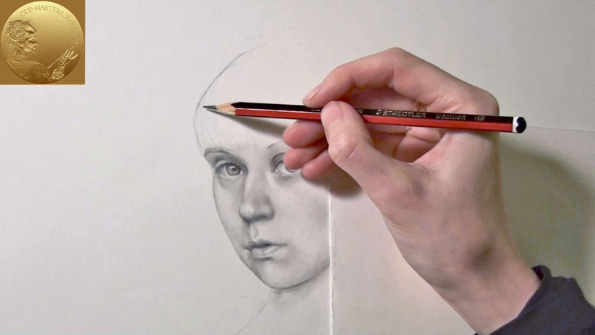 Portrait Drawing in Flemish Style - How To Draw Realistic Hair