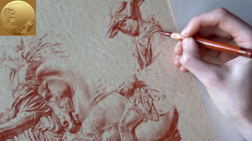 How to Draw in Sanguine on Toned Paper - How to Draw in Sanguine