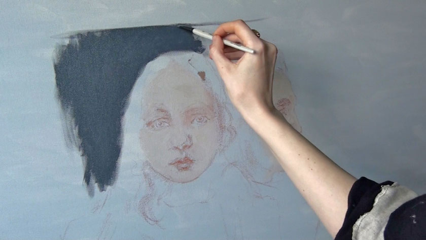 How to Paint Simple Figures in Oil - How to Make an Underdrawing for a Painting