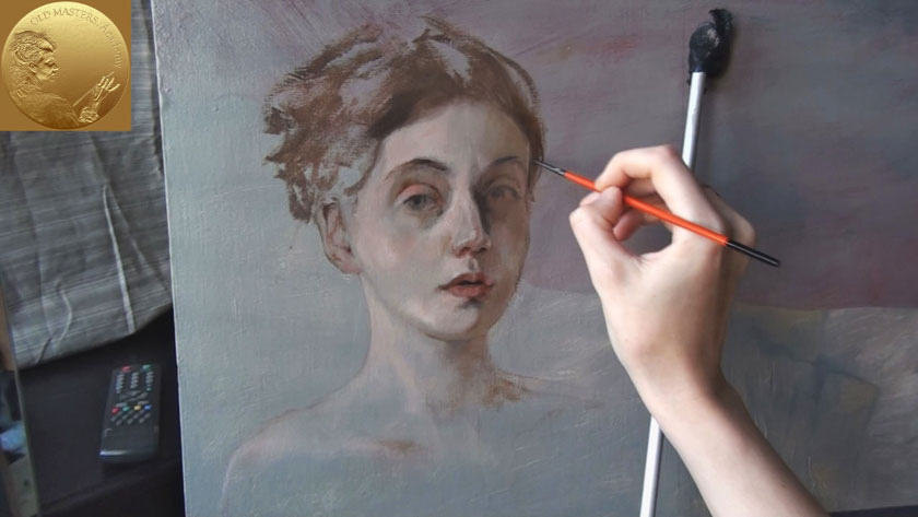 How to Paint a Portrait - How to Paint Eyes in a Portrait