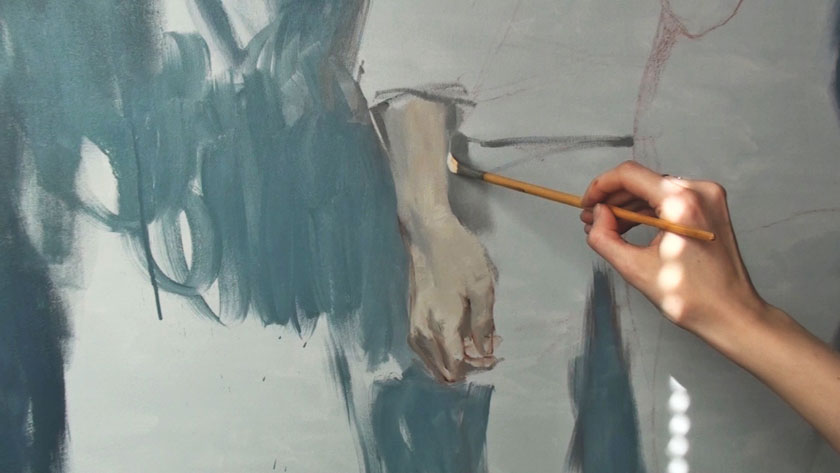 Human Figure Painting Techniques - How to Paint Hands in Oils
