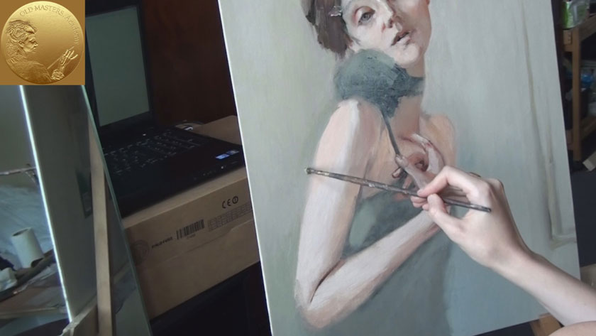 How to Paint a Self Portrait Using a Mirror - How to Paint Skin Tones of a Body