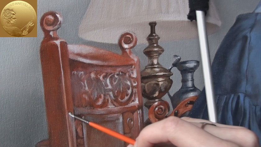 Figure with a still-life in Oils - How to Paint Wooden Textures in Oil Painting