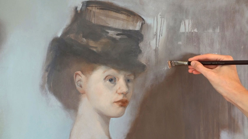 Figural Painting in Oils - How to Paint a Portrait's Background in Oil