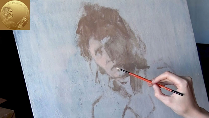 How to Paint a Woman Portrait from Scratch - How to Paint a Woman's Face with Loose Brush Strokes