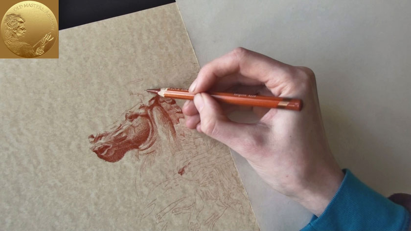 How to Draw in Sanguine on Toned Paper - How to Shade with Sanguine Pencil