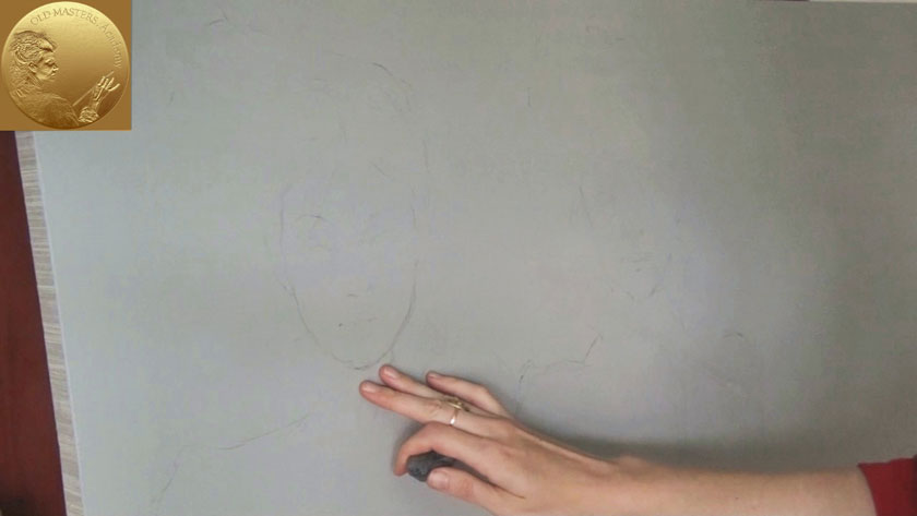 How to Paint Figures in Oil - How to Transfer Drawing to Canvas for Painting