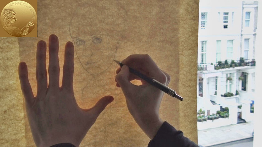 Portrait Drawing in Flemish Style - How to Transfer Sketch to Drawing Paper
