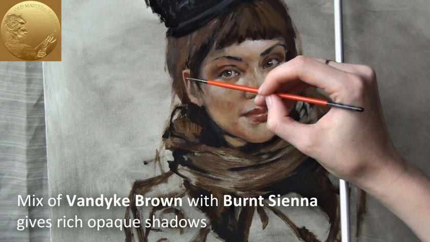 How to Paint a Woman Portrait - How to Use Black Paint in Oil Painting