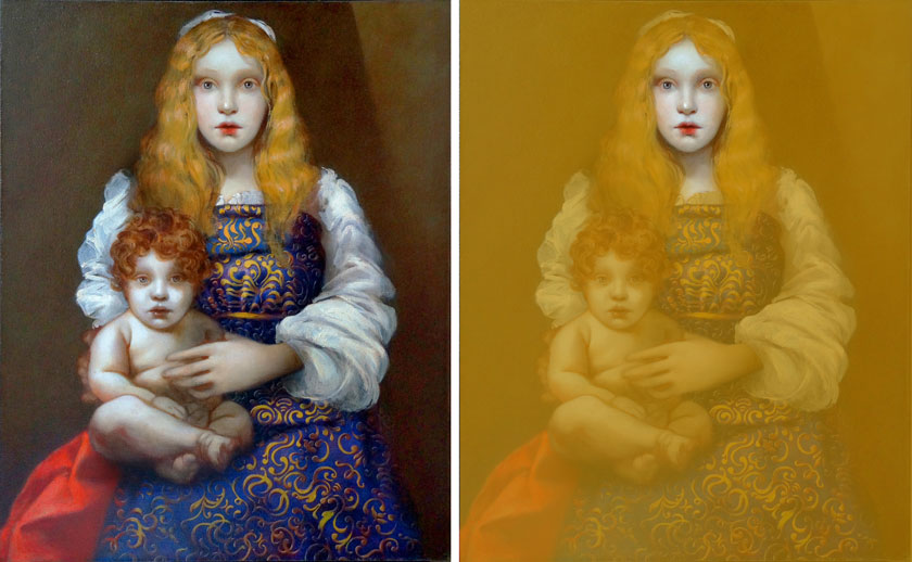 Madonna and Child - How to Oil Paint a Full-Face Female Portrait