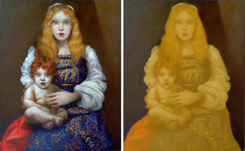 Madonna and Child - How to Paint Neutral Backgrounds