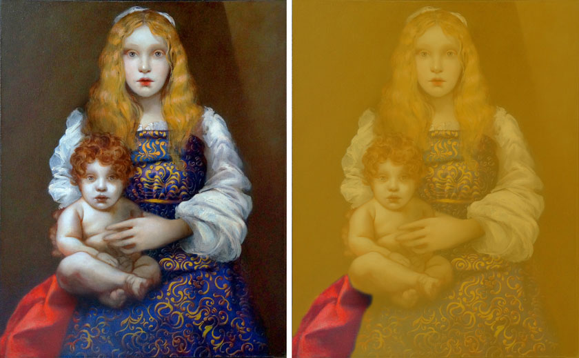 Madonna and Child - How to Paint Red Draperies in Oils