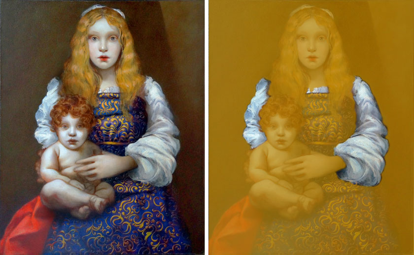 Madonna and Child - How to Paint White Clothes Folds