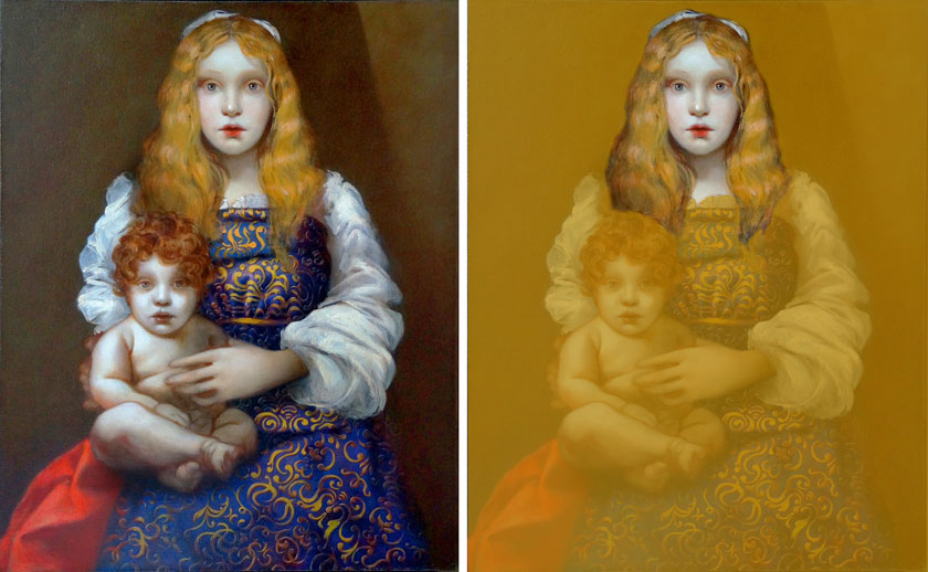 Madonna and Child - How to Paint a Female Portrait
