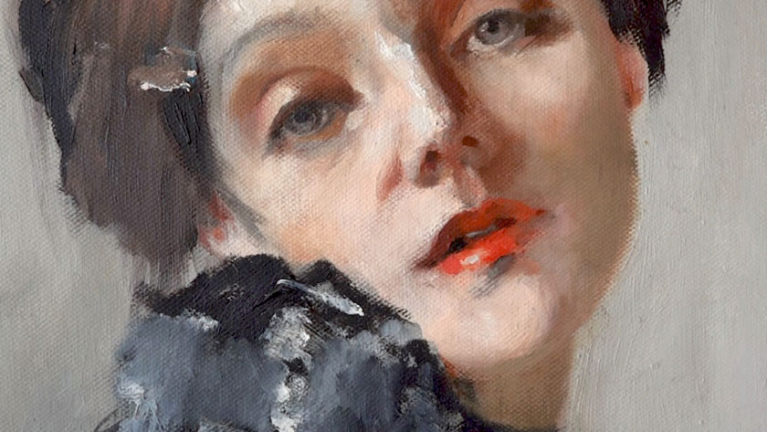 How to Paint a Self Portrait Using a Mirror - Oil Painting in Loose Brushstrokes