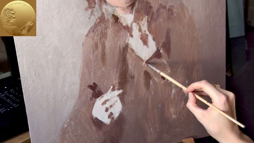 How to Paint a Woman Portrait from Scratch - Oil Painting with Loose Brush Strokes