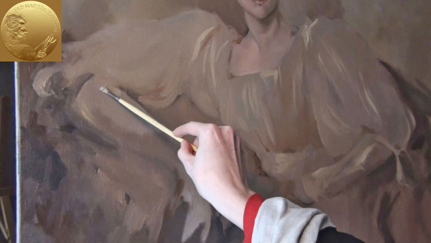 How to Paint a Portrait in the Direct Method - Painting Clothes with Gestural Brushwork