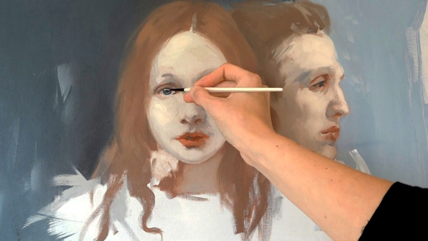 How to Paint Simple Figures in Oil - Painting a Portrait with Simple Brushstrokes