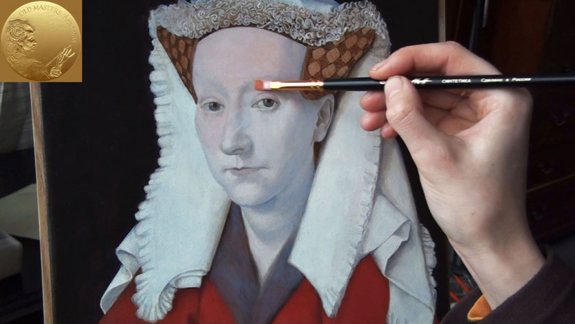 How to Paint Using the Flemish Method - Painting the First Color Layer over a Grisaille Underpainting