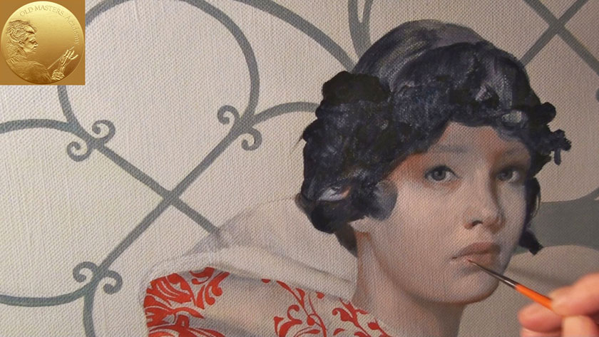 How to Paint a Girl Portrait - Portrait Painting Over Dead Layers - Grisaille